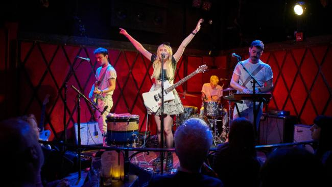 Charly Bliss at Rockwood Music Hall (photo by Gus Philippas/WFUV)