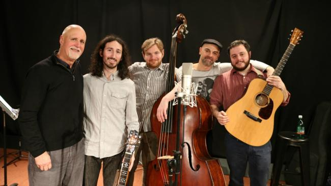 """Cole Quest and The City Pickers and """"Sunday Supper"""" host John Platt (photo by Jeremy Rainer)"""