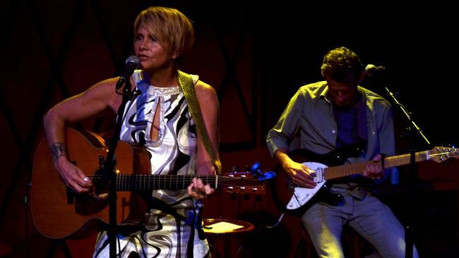 Shawn Colvin and Steuart Smith (photo by Gian Vassaliko/WFUV)