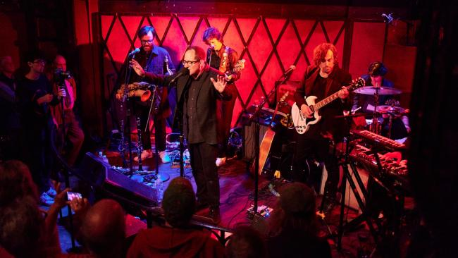 Craig Finn and The Uptown Controllers at Rockwood Music Hall (photo by Gus Philippas/WFUV)