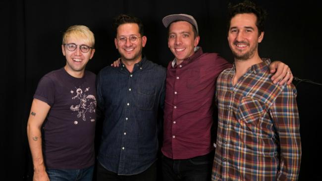 Dan Mills (second from left) and his bandmates (photo courtesy of WFUV)