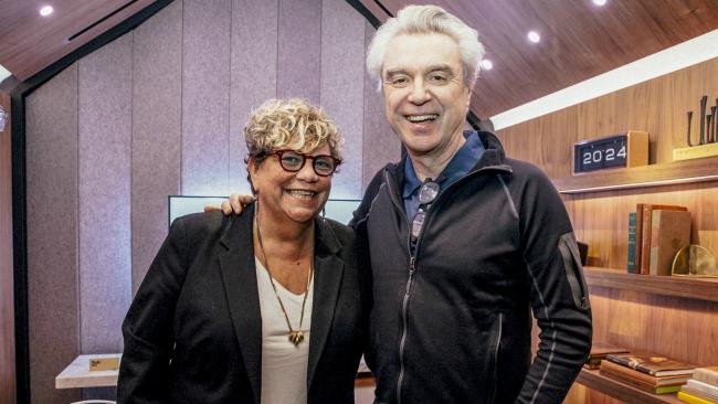 Rita Houston with David Byrne (image credit: Sonos | Nicole Silver)