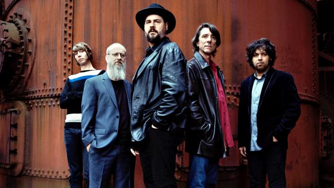 Drive-By Truckers with Patterson Hood in the foreground (photo by Danny Clinch, PR)