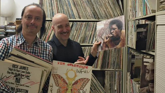 Paul Cavalconte and Eric Holland at WFUV.