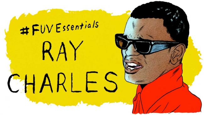 Ray Charles (illustration by Andy Friedman)