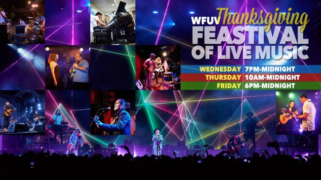 The WFUV Feastival of Live Music is back for Thanksgiving week! (photos by Gus Philippas/WFUV)
