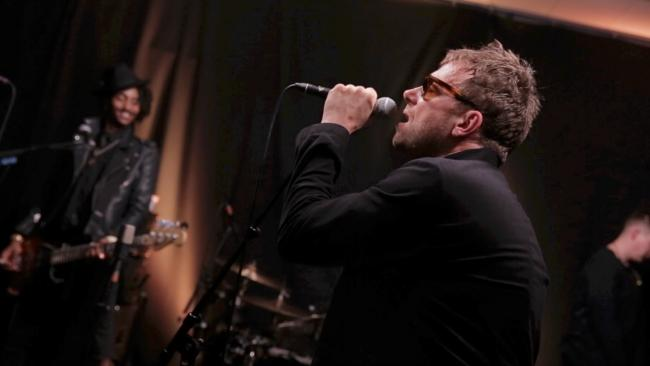 "Damon Albarn and Gorillaz in FUV's Studio A performing ""We Got the Power""on April 26, 2017"