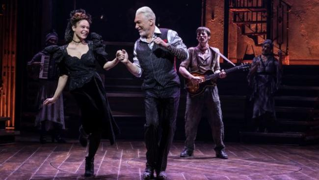 Amber Gray, Patrick Page, and Reeve Carney (Photo by Matthew Murphy)