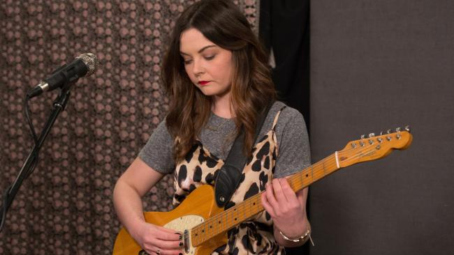Honeyblood in Studio A (photo by Dan Tuozzoli/WFUV)