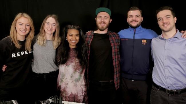 James Vincent McMorrow and band with WFUV's Alisa Ali