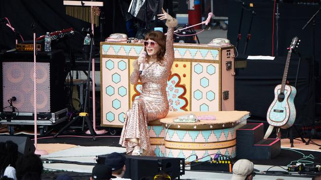 Jenny Lewis at Forest Hills Stadium. (Photo by Gus Philippas/WFUV)