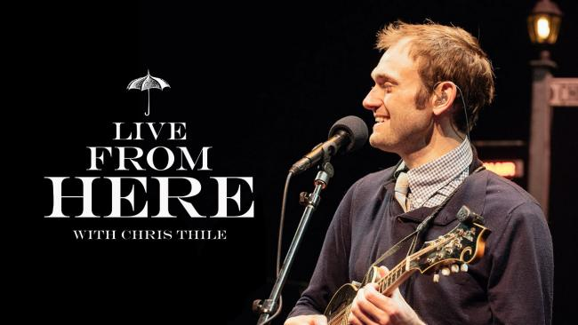 """Live From Here"" and host Chris Thile (photo by Nate Ryan, courtesy of APM)"
