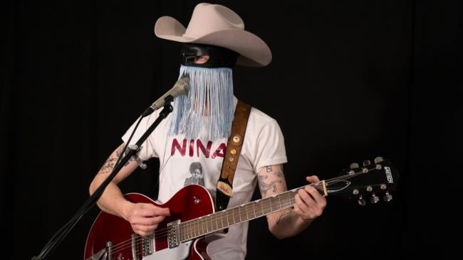Orville Peck in Studio A (photo by Dan Tuozzoli/WFUV)