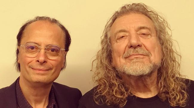 Paul Cavalconte with Robert Plant