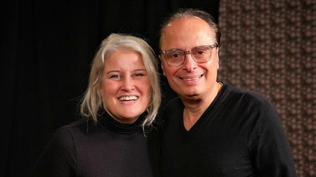"Paula Cole with ""Cavalcade"" host Paul Cavalconte (photo by Steven Ruggiero, WFUV)"