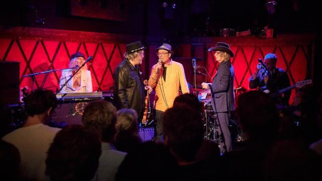 Paul Cavalconte with the Waterboys at Rockwood Music Hall (photo by Gus Philippas)