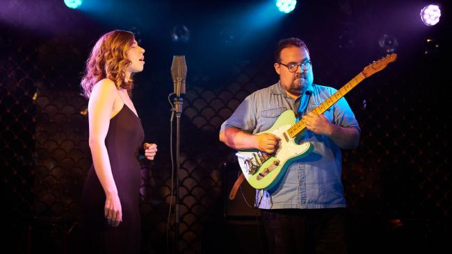 Rachael and Vilray at The Club Car at The McKittrick Hotel (photo by Gus Philippas/WFUV)