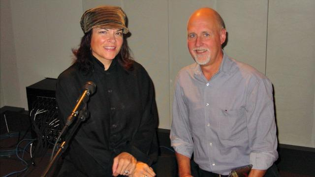 Rosanne Cash and John Platt (photo courtesy of WFUV)