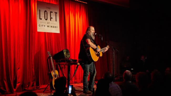 Steve Earle at The Loft at City Winery (photo by Gus Philippas/WFUV)