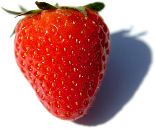 A strawberry.  Hint.