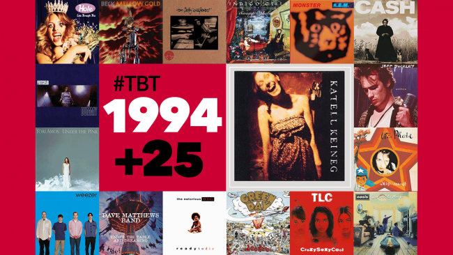 #TBT 1994 (collage of album covers by Laura Fedele, WFUV)