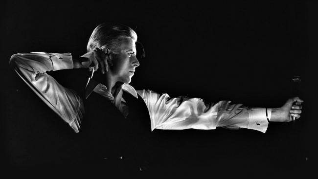 """David Bowie, """"The Archer,"""" 'Station to Station' tour 1976 (photo by John Robert Rowlands, used with permission by the Brooklyn Museum)"""