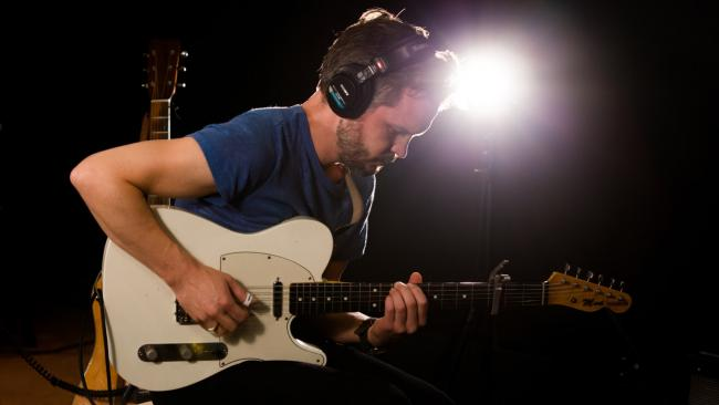 The Tallest Man on Earth in Studio A (photo by Steven Ruggiero/WFUV)