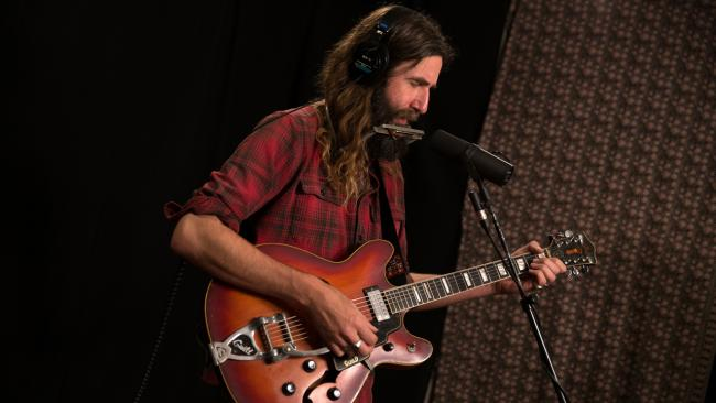 Tyler Ramsey in Studio A (photo by Jake Lee/WFUV)