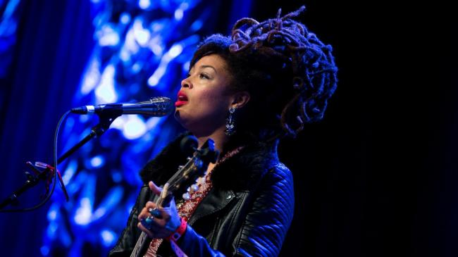 Valerie June at the SXSW Radio Day Stage, powered by VuHaus.