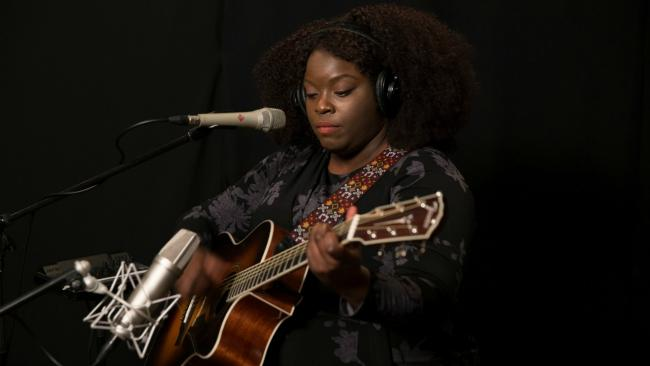 Yola in Studio A (photo by Alex Brennan/WFUV)