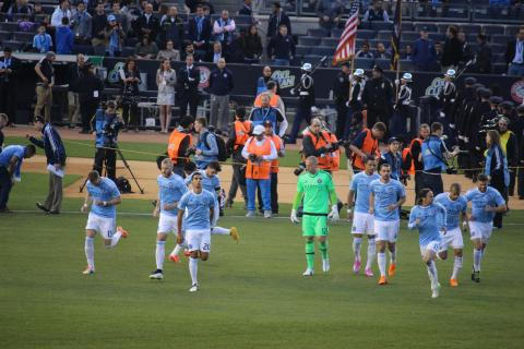 NYCFC Takes The Field.