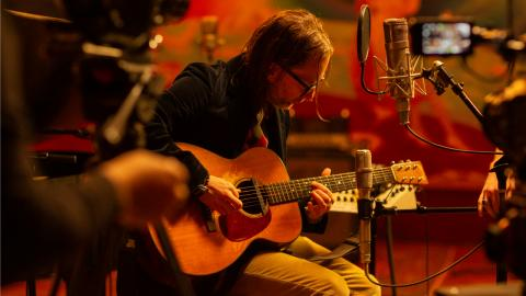Thom Yorke at Electric Lady Studios (photo by Ebru Yildiz)