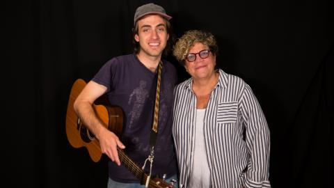 Andrew Combs with Rita Houston at WFUV