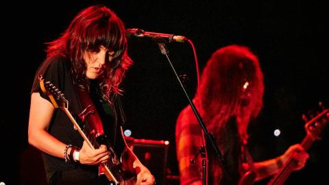 Courtney Barnett at the BRIC Celebrate Brooklyn! Festival (photo by Gus Philippas/WFUV)