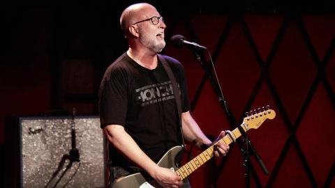 Bob Mould at Rockwood Music Hall (photo by Gus Philippas/WFUV)