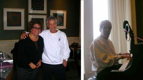 Rita Houston with Burt Bacharach (photos courtesy of Rita)