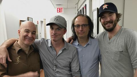 FUV's Eric Holland and Paul Cavalconte with BNQT's Fran Healy and Eric Pulido (photo courtesy of Paul Cavalconte)