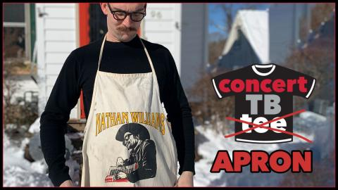 Benham Jones and his ConcertTB ... Apron? (photo courtesy of the author)