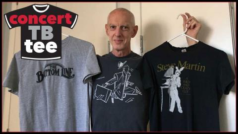 Corny O'Connell's t-shirt collection (photo courtesy of the author)