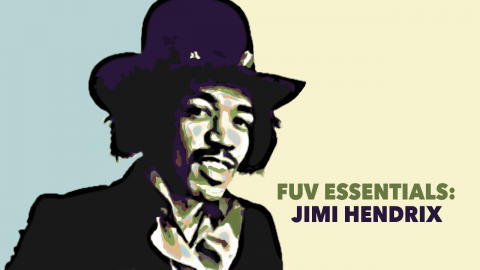Jimi Hendrix (image from promotional photo of the Jimi Hendrix Experience, via Wikimedia Commons)