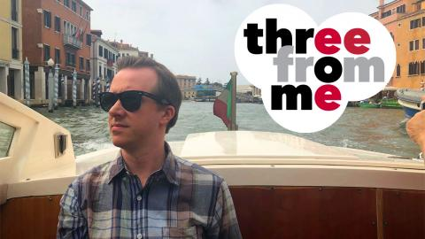 Eric Gottlieb in a gondola in Venice (photo by Angela Hoang)