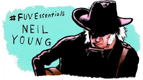 Neil Young illustration by Andy Friedman