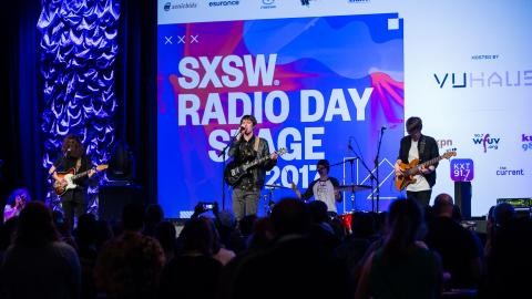Hippo Campus at the SXSW Radio Day Stage, powered by VuHaus.