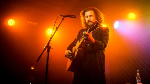 Jim James at The McKittrick Hotel (photo by Gus Philippas/WFUV)