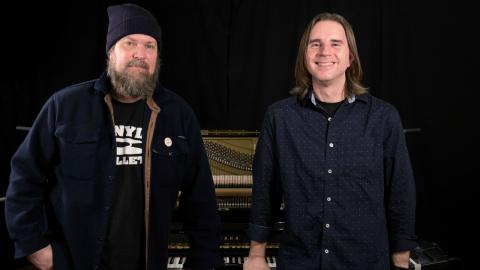 John Grant with WFUV's Russ Borris