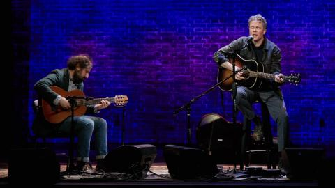 Josh Kaufman with Josh Ritter at The Sheen Center (photo by Gus Philippas/WFUV)