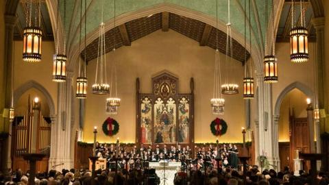 Listen to Fordham's annual Festival of Lessons and Carols. (photo courtesy of Fordham University)