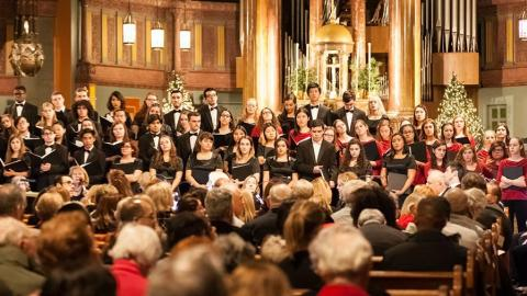 Listen to this year's 'Festival of Lessons and Carols' from Fordham University. (photo by Chris Taggart)