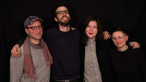 Lucy Dacus with band at WFUV