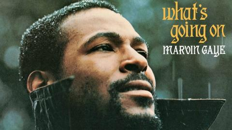 Marvin Gaye's 'What's Going On' album cover.